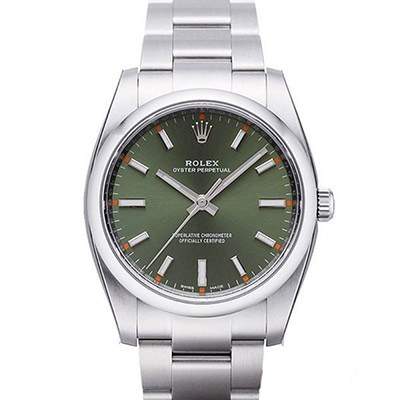 (現金分期24期)ROLEX 勞力士 AIR-KING 蠔式恆動腕錶x橄欖綠x34mm