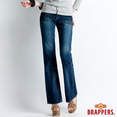 BRAPPERS 女款 Lady Vintage 系列-女用小喇叭褲-藍