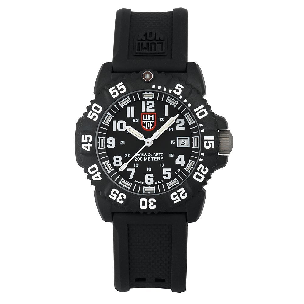 LLuminox 海豹部隊指標系列經典女錶-黑x白時標/38mm