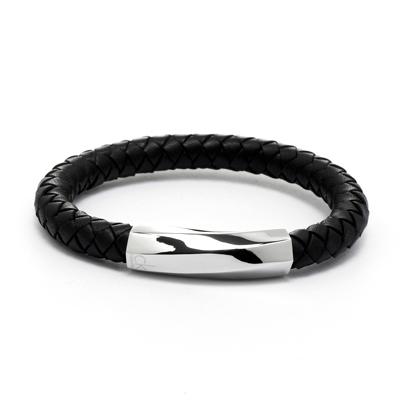 Calvin Klein CK 皮革編織手環-黑色