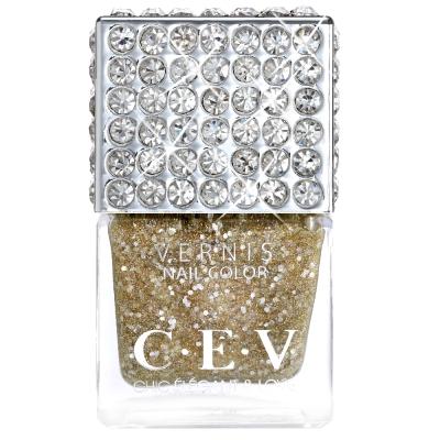 CEV超釉光極緻指彩-743 粉金香檳 指甲油 15mL