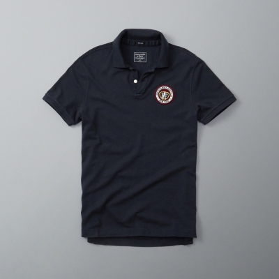 AF a&f Abercrombie & Fitch 短袖 POLO 深藍 195