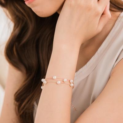 微醺禮物-鍍K金-細緻白珍珠-手鍊