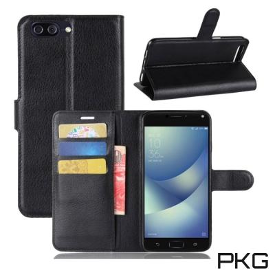 PKG ASUS ZenFone4 MAX ZC554K 側翻式皮套-經典皮套系...