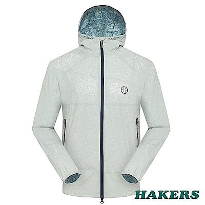 【HAKERS】男-2.5L輕量功能外套-淺灰深藍