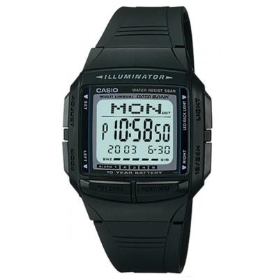 CASIO 黑炫風城市電子錶(DB-36-1A)-黑/36.6mm