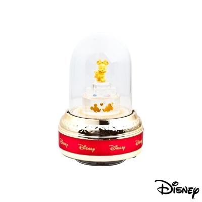 Disney迪士尼金飾 甜蜜美妮玻璃屋音樂盒立體金飾