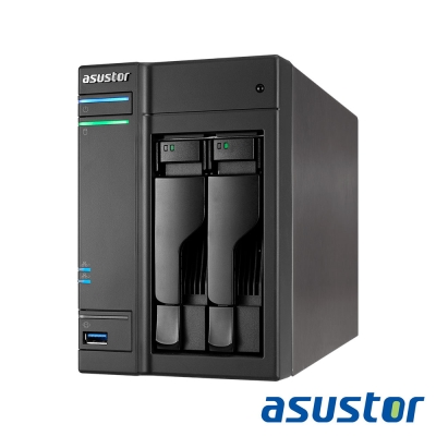 ASUSTOR華芸 AS-6102T 2Bay+WD 2TB*2超值組