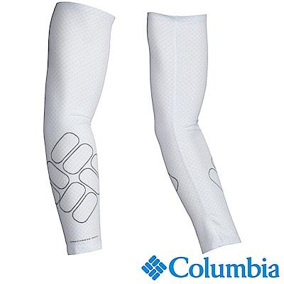 Columbia 哥倫比亞 男女-防曬50涼感快排袖套 白 USU97210WT