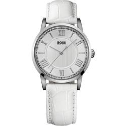 Hugo Boss 歐式羅馬風簡約腕錶-白/35mm