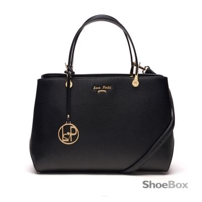 鞋櫃ShoeBox-女包-手提包-金屬吊飾方形手提包-黑