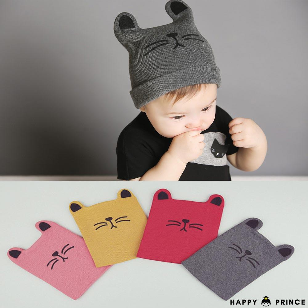 韓國 Happy Prince 小貓針織嬰兒棉帽