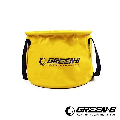 韓國GREEN-B 戶外多功能25L大容量折疊水桶 儲水盆 洗臉盆/露營/沙灘/海邊/洗
