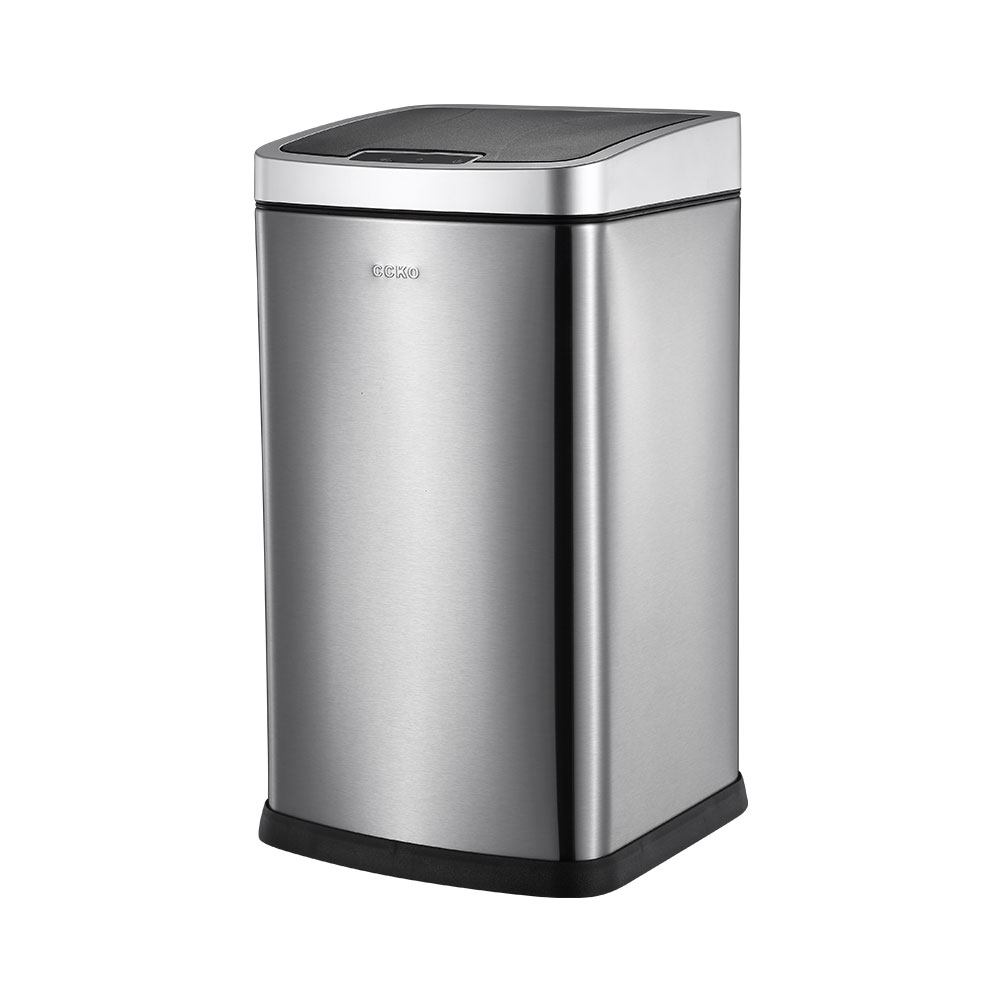 CCKO 智能感應 垃圾桶 12L-髮絲銀