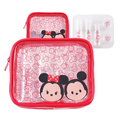 Disney迪士尼TsumTsum旅行瓶罐盥洗化妝包 萬用包組