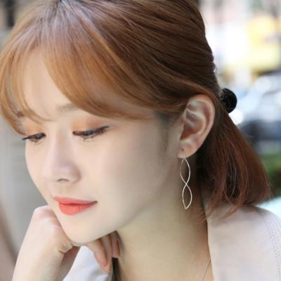 梨花HaNA-韓國925銀曲線玩轉簡約耳環精裝版