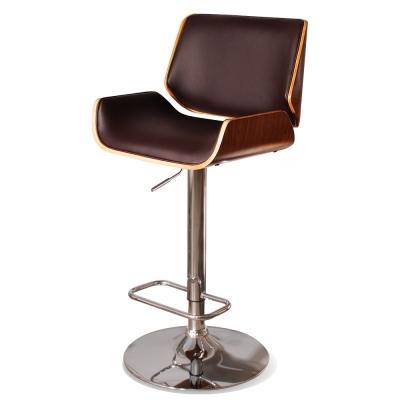Claude克勞德吧台椅(皮質)-棕