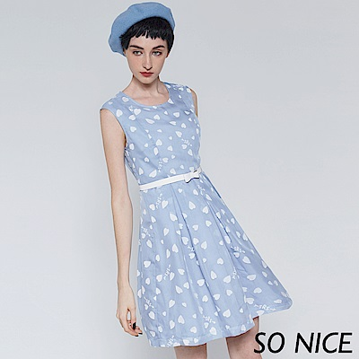 SO NICE優雅愛心燒花洋裝