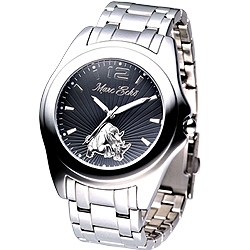 MARC ECKO 名流精英時尚鋼帶腕錶-黑/45mm