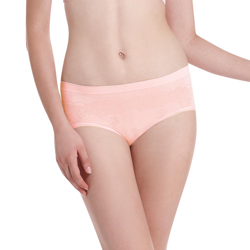 LADY 超彈力親膚無痕系列 中腰低衩三角褲(粉色)