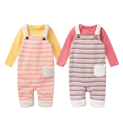 baby童衣 套裝 小馬包屁衣+圖騰吊帶褲兩件組47042