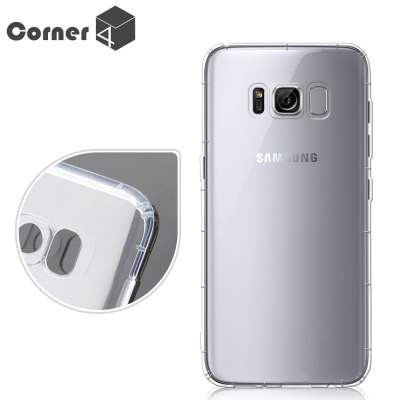 Corner4 Samsung Galaxy S8 Plus 透明防摔手機空壓軟...