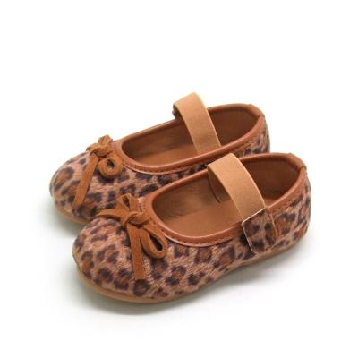 天使童鞋-D377 秋冬絕美豹紋親子鞋(小童)-咖啡紋