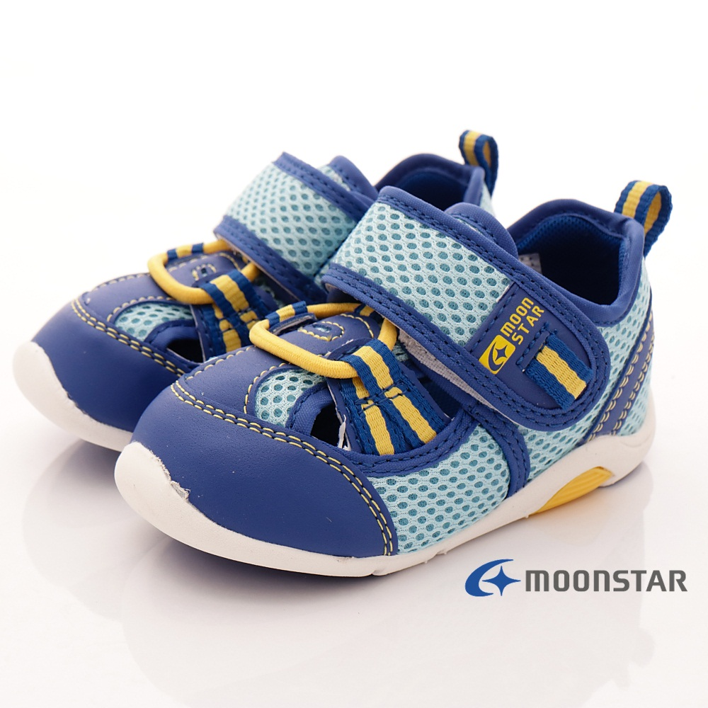 日本月星頂級童鞋 透氣護趾機能鞋 ON405藍(寶寶段)