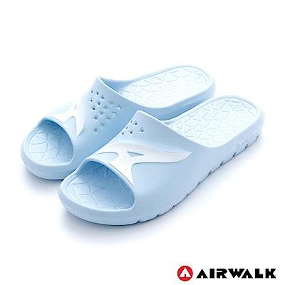 美國AIRWALK - 舒適柔軟輕盈AirJump拖鞋-淺藍色