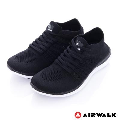 美國 AIRWALK透氣輕量編織慢跑鞋運動鞋 女款-黑色
