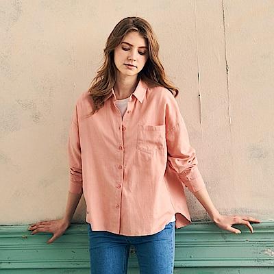 CACO-洗水斜紋口袋襯衫(四色)-女【PAR047】