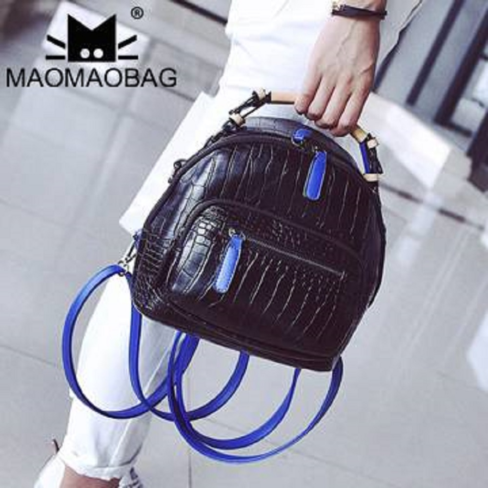 MaoMaoBag-韓版手提雙肩多功能小包-黑
