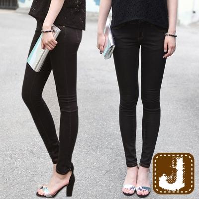 正韓 百搭筆挺貼身鉛筆長褲(黑色)-100%Korea Jeans