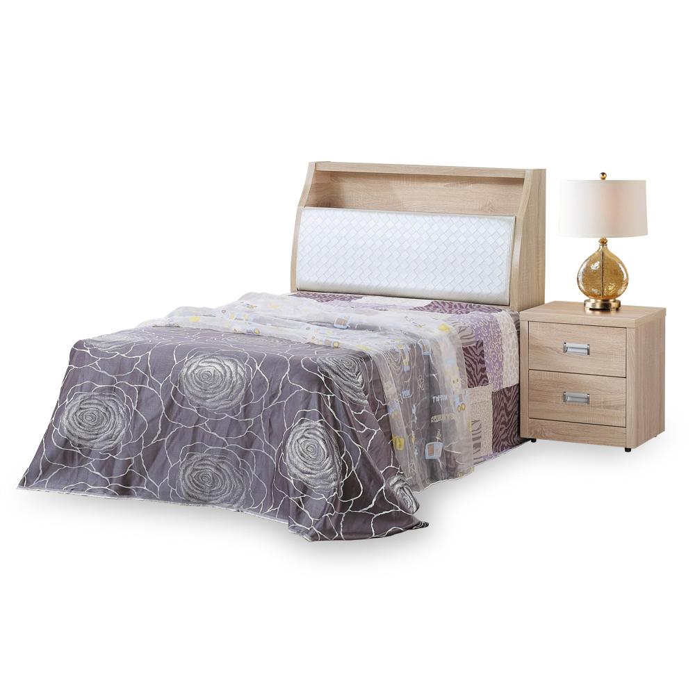 時尚屋 彼得原橡3.5尺加大單人床台(不含床頭櫃-床墊)