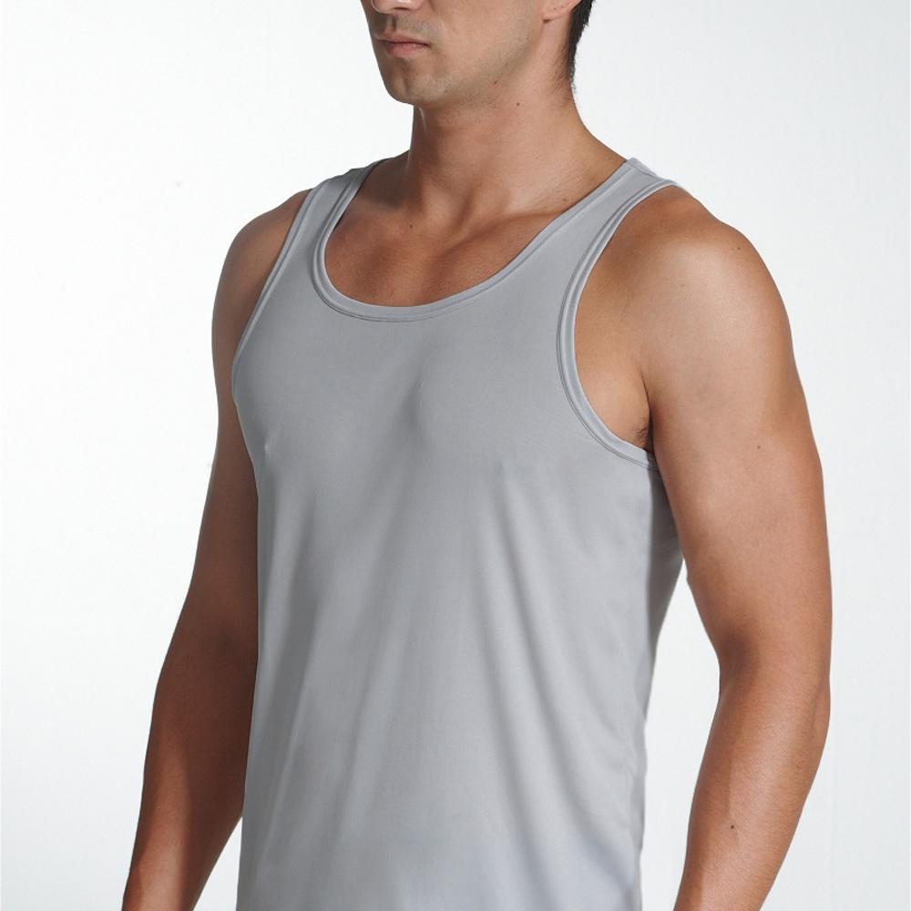 宜而爽 3件組時尚型男彩色挖背背心隨機取色
