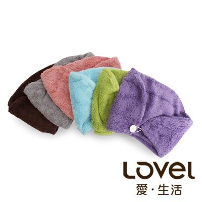 Lovel7倍強效吸水抗菌超細纖維浴帽6入組(共7色)