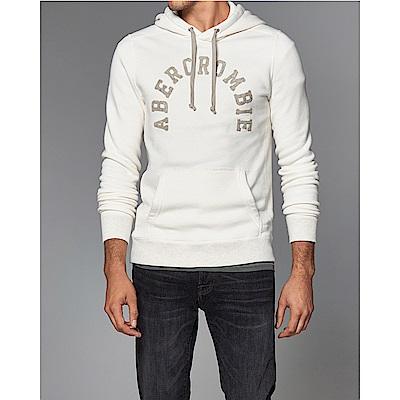A&F 經典刺繡文字連帽T恤-白色 AF Abercrombie