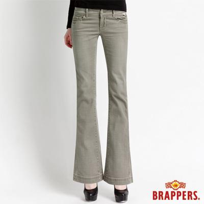 BRAPPERS 女款 新美腳l系列-女用彈性小喇叭褲-綠