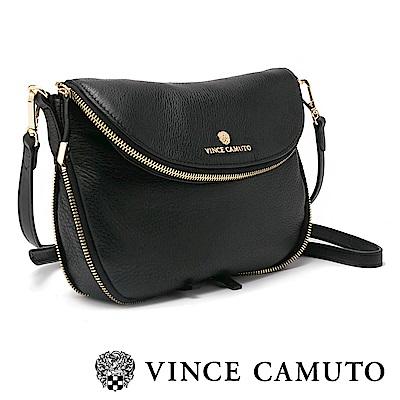 Vince Camuto 質感真皮長型側背包-黑色