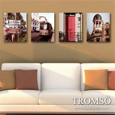 TROMSO時尚無框畫-南歐旅程 (4件1幅)