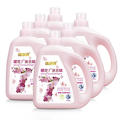 清淨海 櫻花7+洗衣精 2000g (6入)