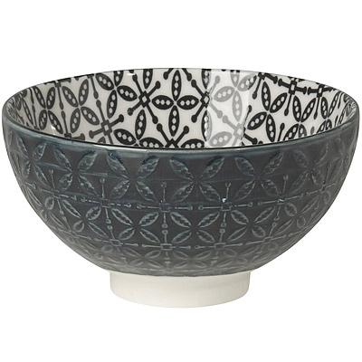 NOW 雙色壓紋餐碗(黑)