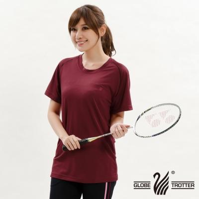【遊遍天下】台灣製中性款輕量吸濕排汗機能圓領衫S0707磚紅