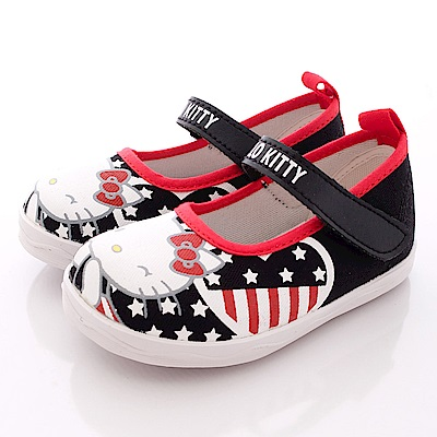 HelloKitty童鞋-美國風帆布款-SE16305黑(小童段)T1