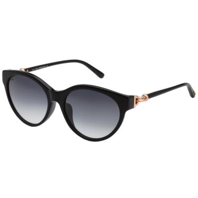 TOD'S 釦環款 小貓眼 太陽眼鏡 (深藍色)TO154F