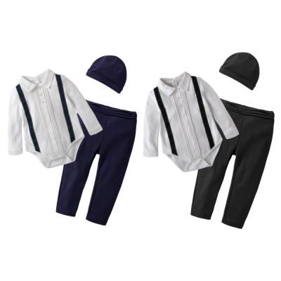 baby童衣 假吊帶西裝型包屁衣 3件套 60195