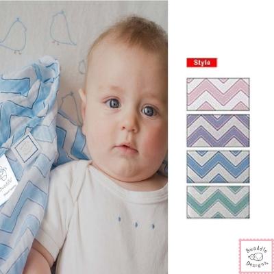 Swaddle Designs 薄棉羅紗多用途嬰兒包巾-幾何波紋