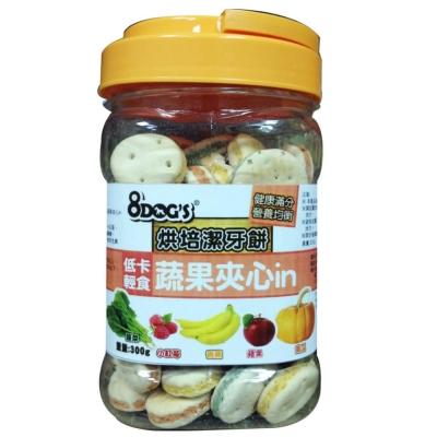 8DOGS 烘培潔牙餅 蔬果夾心in 300g