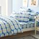 LAMINA 經典格紋-藍 二件式床包組(單人) product thumbnail 1