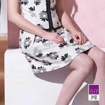 ILEY伊蕾-白底印花裙
